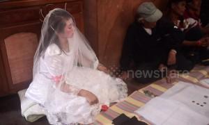 Despondent bride forced to marry older man after 'being caught seeing him around their village'