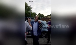 'You want some flour? Make you a fascist quiche?' Breitbart journalist get milkshake thrown over him in Salford