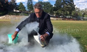 Australian teacher creates rocket using liquid nitrogen and fizzy drink