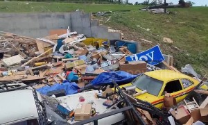 Massive property devastation after a monster tornado rips through Jefferson City, Missouri USA