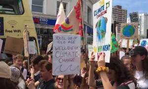 Youth march for climate change in Brighton