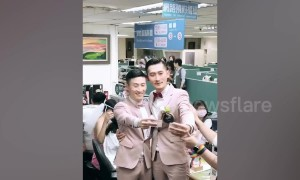 Taiwan's first gay couple get married after country legalised same-sex marriage