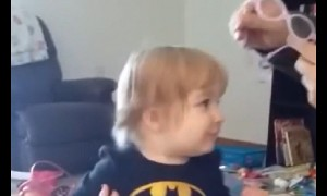 Toddler's incredible reaction after seeing parents for first time
