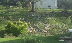 Trail of destruction left by monster twister revealed in Jefferson City, Missouri USA