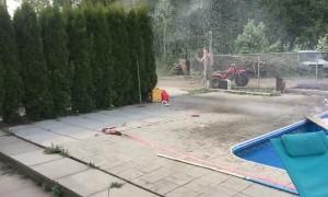 Sending a Snowmobile Over a Swimming Pool Fail
