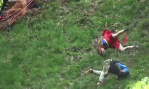 The biggest tumbles from 2019's annual cheese-rolling race, Gloucestershire UK