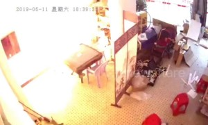 Electric scooter battery explodes while charging in a Shanghai apartment