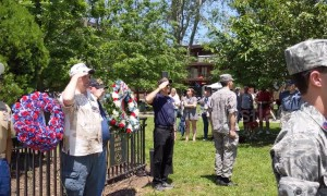 Various Memorial Day ceremonies take place in John Paul Jones Park, New York, USA