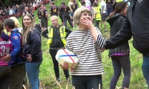 Winner of Cheese Roll race in Gloucestershire, UK says she is retiring
