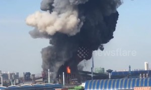 Factory in China explodes due to a gas leak killing 1 and injuring 9