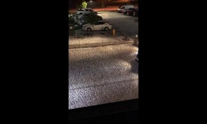 Intense hail storm pelts Denver