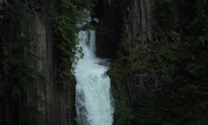 Kayaker Sends it Down Massive Waterfall