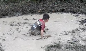 Swimming a Mud Puddle Marathon