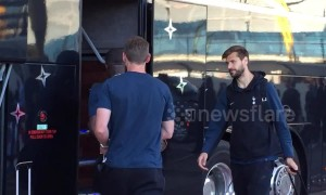 Tottenham Hotspur Arrive at Madrid Airport in Spain for the Champions League Final