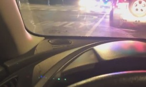 Police Vehicles Collide During Emergency Response