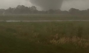 Tornado Touching Down by Home