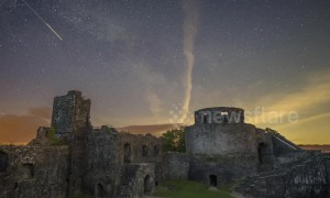Time-lapse footage captures Welsh castle with astronomical night sky backdrop