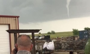 Clouds Forming Tornado in Texas