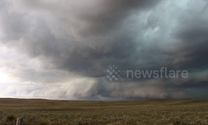 Incredible supercell storm in Colorado countryside