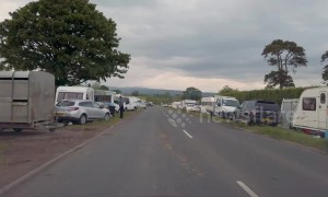 Gypsies and travellers set up camp ahead of Appleby Horse Fair