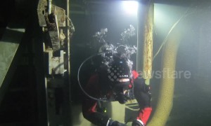 Cold War-ter: Scuba divers explore Cold War missile silo in Washington State