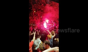Liverpool parties long into the night after Champions League win