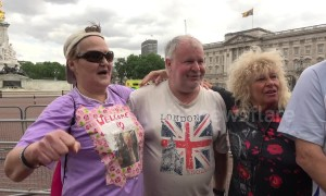 Trump supporters defend US president during his visit to Buckingham Palace