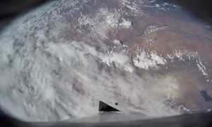 Onboard cameras captured incredible Earth view during rocket launch