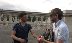 Red Hat Showdown: Trump supporters and protestors scuffle over Trump hat outside Buckingham Palace during presidential visit