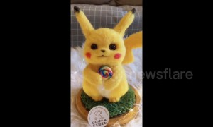 Chinese girl makes Pikachu out of wool after being inspired by 'Pokemon Detective Pikachu'