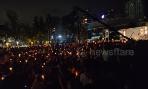 Hong Kong's Victoria Park a sea of candlelight on 30th anniversary of Tiananmen Square