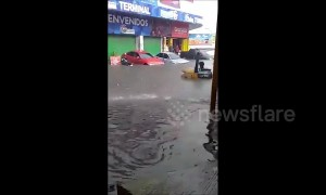 Torrential rain turns streets into raging rivers in Guatemala City