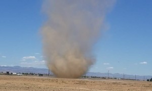 Huge Dust Devil in the Desert