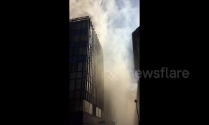 Building ablaze in Mayfair sees clouds of smoke cover the nearby area