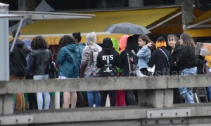 K-pop super fans sleep on the streets for the night in Paris ahead of BTS concert