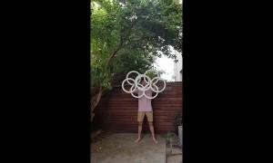 Australian circus performer mesmerises with ring manipulation routine