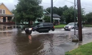 Extreme flooding captured on camera in Lafayette