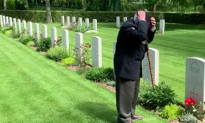 World War II Veteran Pays Respects to Fallen Friend