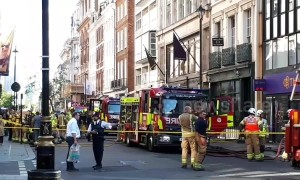 Firefighters on scene in Mayfair area of London