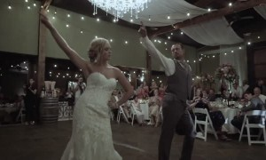 Father-daughter wedding dance leaves guests in awe