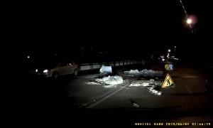 Unmarked Road Repairs Sends Car Flying