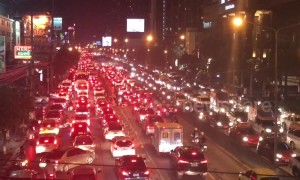 Gridlock! Rush hour traffic after floods in Bangkok