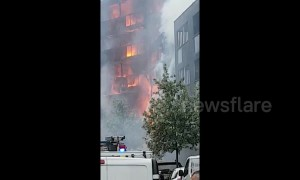 20 flats destroyed by massive fire in east London's Barking