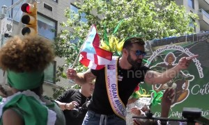 Ricky Martin swarmed by paparazzi after Puerto Rican Day Parade in New York