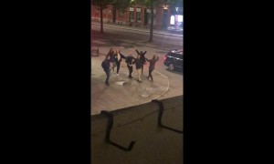 Dancing queens! Swedish students dance to ABBA in spontaneous flash mob