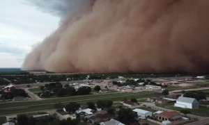 Drone Captures Massive Dust Storm