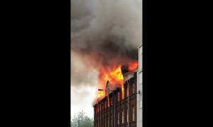 Flats evacuated as flames burst out of Walsall warehouse