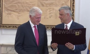 "20 years after stopping ethnic cleansing, Bill Clinton awarded ""Order of Freedom"" medal in Kosovo"