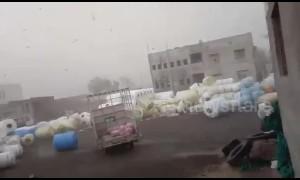 Cyclone Vayu blows away heavy water tanks like balloons