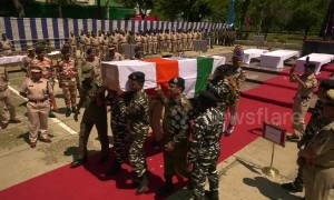 Funeral for Indian soldiers killed in rebel ambush in Kashmir